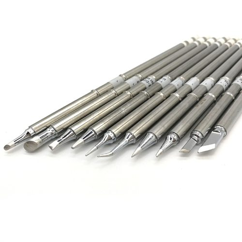 10Pcs/SET T12-B2 D24 C4 ILS JL02 KU K BC2 BL BC1 Iron Tips Series Soldering Rework Station FX-951