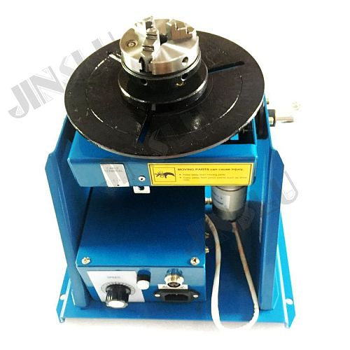 220V used BY-10 10KG welding positioner with K01-65  mini chuck with foot switch welding turntable