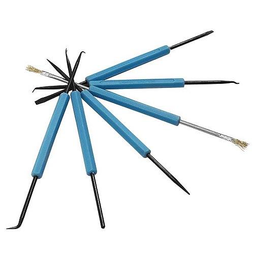 6pcs Repair Fluxing Tool Welding Aid Tool Set PCB Desoldering Combination Circuit Board Soldering Tool Kit