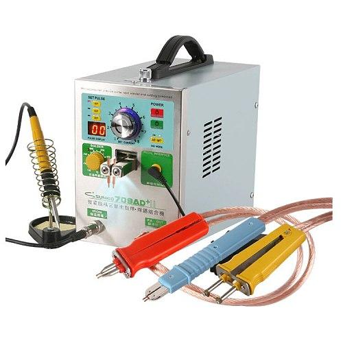 SUNKKO 709AD+ update NEW big power version from 709AD 4 IN 1 Spot Welder fixed pulse welding +constant temperature soldering