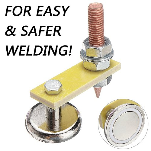 Magnetic Welding Support Ground Clamp Welding Magnetic Head Safety Wire Holder With Copper Tail Welding Equipment Solder Tool
