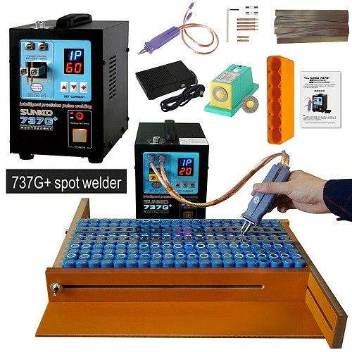 SUNKKO 737G + Battery Spot welder Machine 4.3KW Automatic Pulse 18650 Battery Welding Machine With A High Power Spot Welding Pen