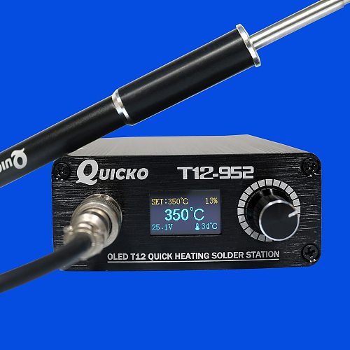 T12-952 OLED digital soldering station high quality T12-M8 aluminum alloy handle with soldering iron tips electronic solder