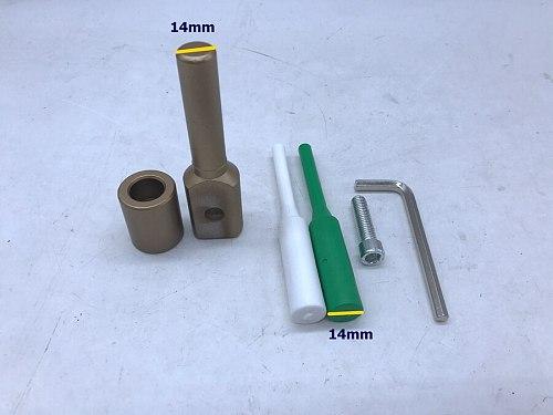 Free Shipping PPR water pipe repair tool, repair leaks and loopholes 14mm plastic pipe welding parts die head, Welding Mold