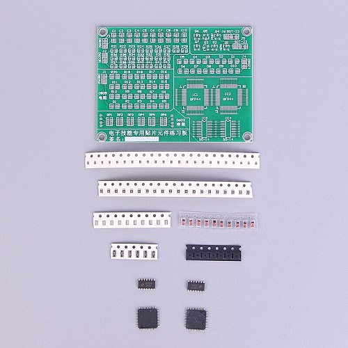 1 x Practice PCB Board Kit Practice PCB Board Soldering Welding Skill Training Beginner Welding Electronic Kit