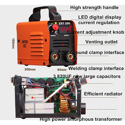 Free shipping 250A 110-250V Welding Machine Compact Mini MMA Welder Inverter welding semiautomatic