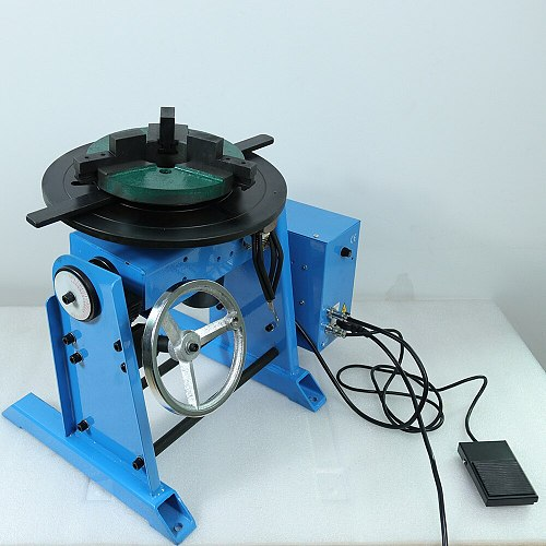 HD-50 50KG welding positioner welding turntable with lathe chuck WP200 and torch holder