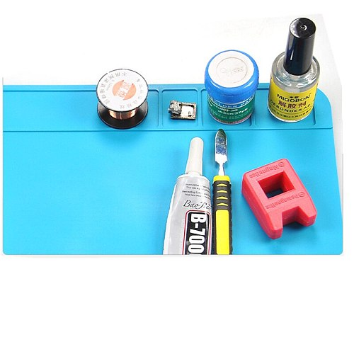 300*200mm Heat Insulation Pad Silicon Soldering Mat Heat-Resistant Work Pad Desk Protection Solder Rework Repair Tool Station Pa