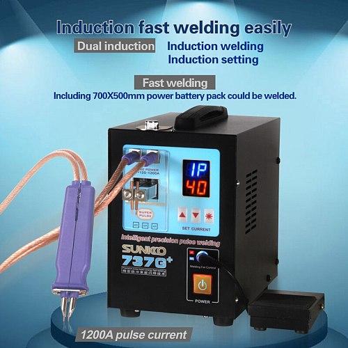 SUNKKO 737G+ (upgrade 737G) Spot Welder Battery Welding Machine with welding pen , big power, automatically