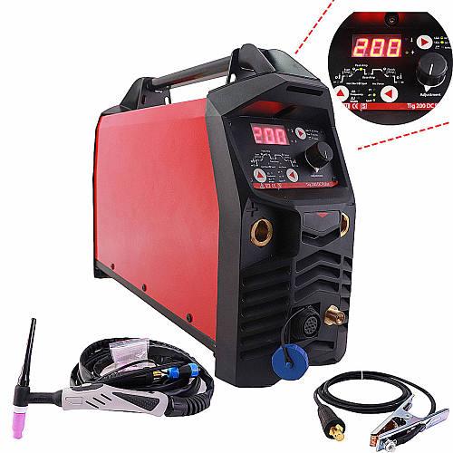 Professional Digital TIG 200A Pulse Welding Machine Hot Start HF Ignition Anti Stick Arc Force CE IGBT Inverter MMA TIG Welder