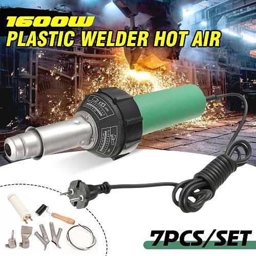 AC 220V 1600W 50/60Hz Electronic Hot Air Plastic Welding-Gun Torch Welder Heat Hot Tools Kit+6PCS Nozzle Welding Accessories