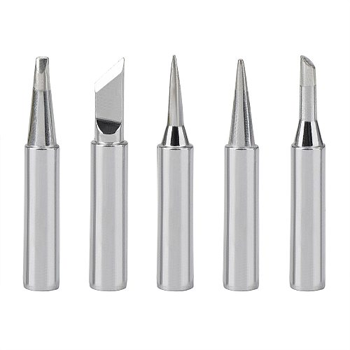 5pcs New Lead Free Soldering Iron Tips Replacement  For Soldering Repair Station and soldering iron kit