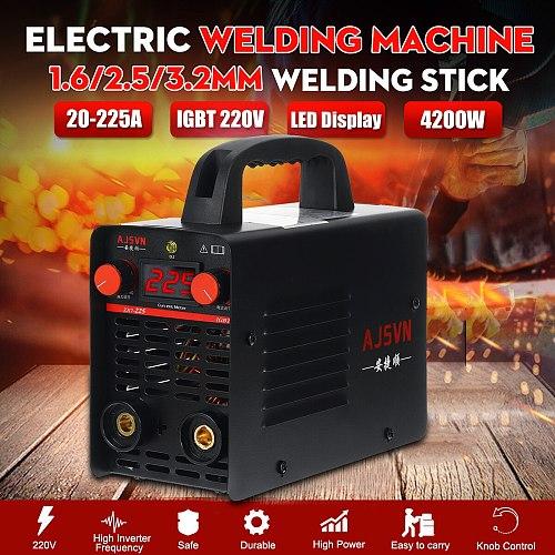 220V Adjustable 20A-225A 4200W Handheld IGBT Inverter Arc Welder-Welding Machine Digital Display Mini Portable Welding Tool