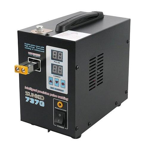 SUNKKO 737G Spot Welder 1.5kw LED Illumination Dual Digital Display Double Pulse Welding Machine For 18650 Battery