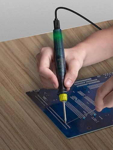 LT002 USB Adjustable Temperature Electric Soldering Iron 5V DC/8W Welding Solder Rework Station Heat Pencil Repair Tools паяльн