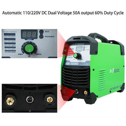 Reboot Plasma Cutter 50Amps Automatic 110/220V Dual Voltage Cutter AC 1/2  Clean Cut Inverter Cutting Machine IGBT Welder