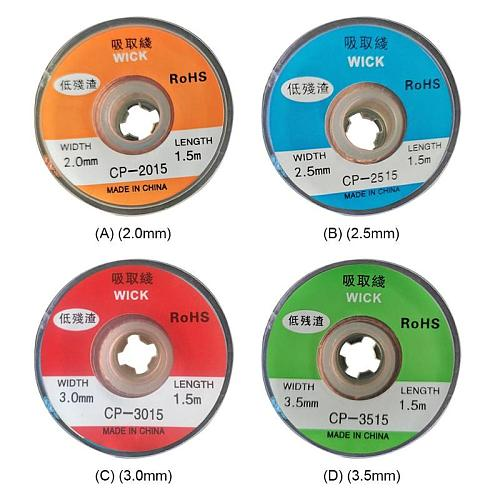 1.5m Wick Desoldering Braid Welding Solder Remover Wire Lead Cord for BGA Repair Improve the Speed of Cleaning PCB Pad