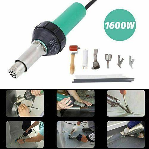 Honhill 16000W Hot Air Torch Plastic Welding Gun Machine AC 220V Hot Air Welding PVC Plastic Repairing Machine For Welder + Flat