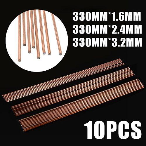 10Pcs Set 330mm Length Welding Rod Mild Steel 1.6/2.4/3.2mm TIG Welding Filler Rods Wire For Gas Welding Soldering Supplies