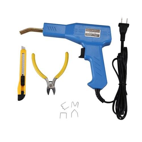 US Plug,Plastic Welding Machine Garage Tool Heat Stapler PVC Plastic Repair Machine Car Bumper Repair Heat Stapler
