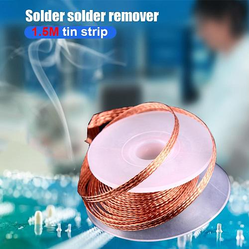 1.5m Length Desoldering Braid Welding Solder Remover BGA Repair Wick Wire Cable Antioxidant and Anticorrosion Protection