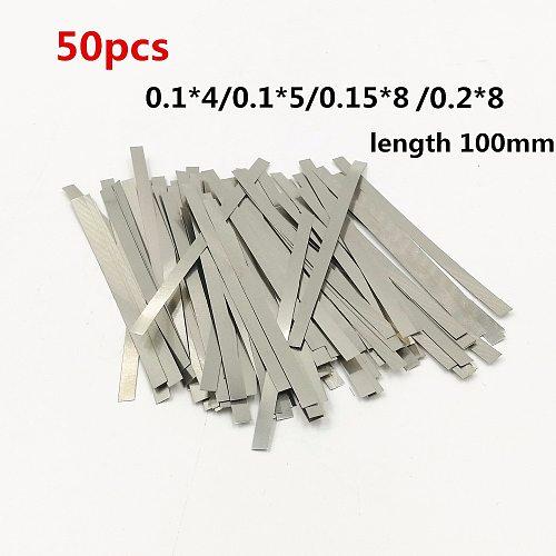 50pcs Nickel plated steel strip Nickel Plate Strap Strip Sheets for 18650 battery spot welding machine Welder /Spot welder
