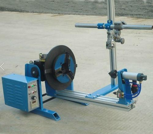 50KG welding positioner with WP-200 chuck for circle workpiece portable turntble equipment with air cylinder