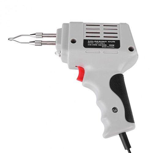 Selling Electrical Soldering Iron Gun Hot Air Heat Gun Hand Welding Tool With Solder Wire Welding Repair Tools Kit EU 220V 100W