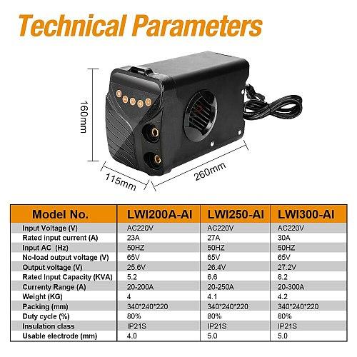 LANNERET AI-200/250/300 Inverter Welding Machine Tools Arc Welders 220V IGBT Series DC ARC High Efficiency Electric Welder