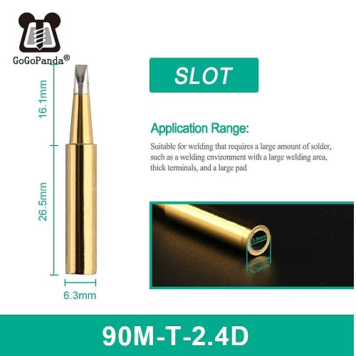 Free Shipping High Quality Replacement Soldering Iron Tip Leader-Free Solder Tip Inner Gold Color Sold By 1 Pc