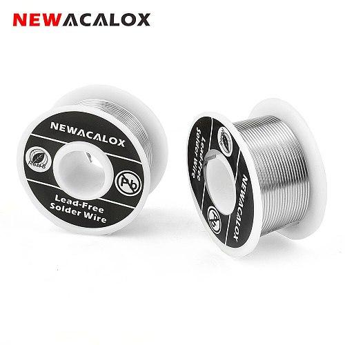 NEWACALOX 2pcs/set 1mm Welding Wire Welding Rods Reel 100g/3.5oz Tin Lead Line FLUX 2.0% Silver Solder Wire for Soldering
