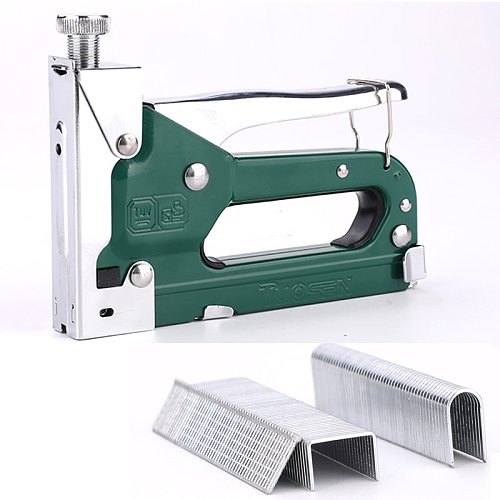 6  3 in 1 Manual Heavy Duty Hand Nail Gun Steel Furniture Stapler For Framing Staples By Free Woodworking Tacker Tools