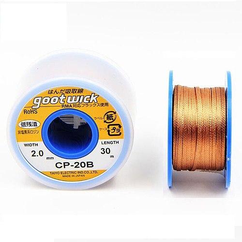 Desoldering Wicks Original Japan GOOT Copper Wire Desoldering Braid Solder Remover Vacuum Sucker BGA Solder Wick Welding Tools