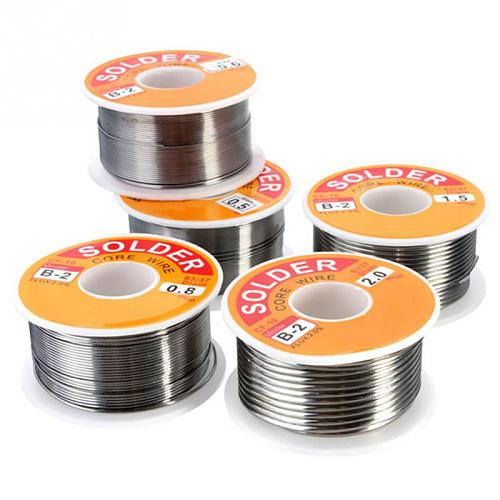 HOT 100g 0.6/0.8/1/1.2 63/37 FLUX 2.0% 45FT Tin Lead Tin Wire Melt Rosin Core Solder Soldering Wire Roll No-clean