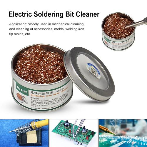 Latest Electric Soldering Bit Cleaner Desoldering Tin Wire Mesh Filter For Machine Parts Molds Welding Iron Tips Cleaning Ball