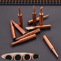 10pcs/lot Pure Copper 900M-T Soldering Iron Tip Lead-free For Hakko Soldering Rework Station Soldering Tips