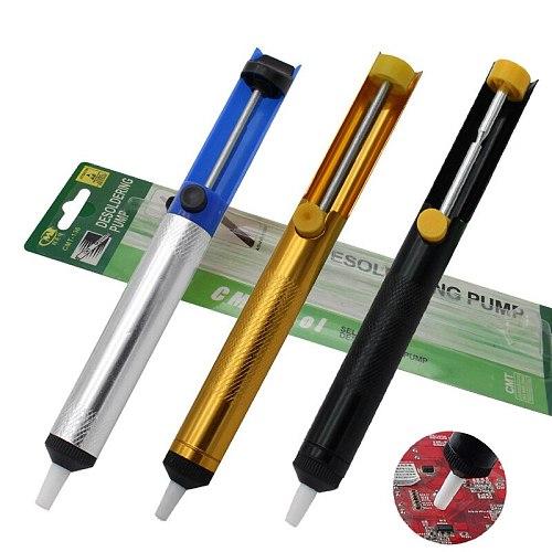 Metal Solder Sucker Desoldering Pump Solder Suckering Vacuum Removal Suction Tin Pen For Hand Tools Welding Tools