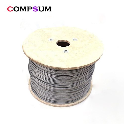 304 Stainless Steel Steel PVC Coated Flexible Wire Rope soft Cable Transparent Clothesline