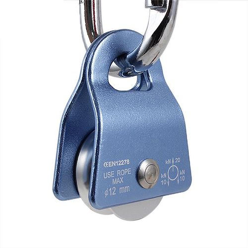 2000kg Flexible Active Pulley Block 360 Degree Swivel Pulley for Outdoor Rock Climbing Rope Ice Belt Lifting Sling