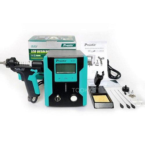 Pro'sKit SS-331H ESD Electric Desoldering Pump LCD Digital BGA Desoldering Suction Absorb Gun Vacuum Solder Sucker Gun BGA Tools