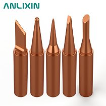 1PCS Pure Copper Color Universal 936 900M-T-K 900M-T-B 900M-T-I Soldering Station Soldering Iron Tip Sting Handle Welding Tools