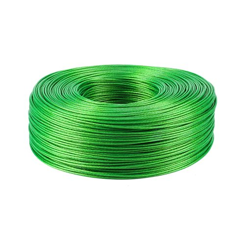 100 Meters Steel wire Green PVC Coated Flexible Wire Rope Cable Stainless Steel for Clothesline Greenhouse Grape rack shed 2mm