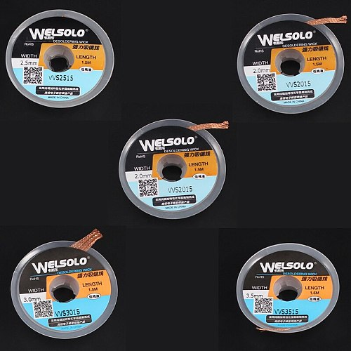 WELSOLO WS1515/2015/2515/3015/3515 Powerful Desoldering wick for Soldering Accessory solder remover