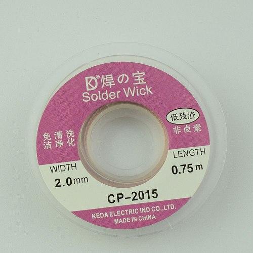 Euntop Width 2.0mm BGA Desoldering Wire Solder Wick CP-2015 Length 0.75m