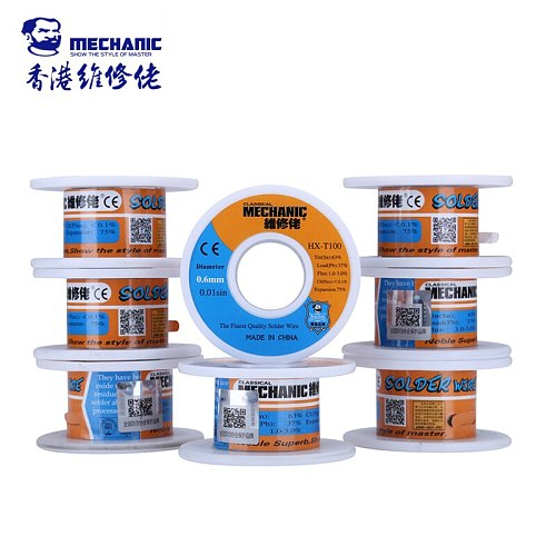 2pcs/lot Original Mechanic Rosin Core Solder Wire Tin 0.6mm 50g Low Melting Point BGA Soldering Tools