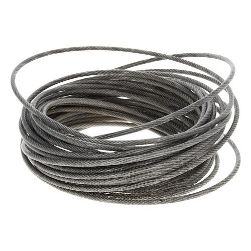 PVC Coated Steel Wire Cable 304-Stainless-Steel Flexible Wire Rope 1.2/3/5mm Dia 5~10m Long Soft Lifting Cable Clothesline 1pcs