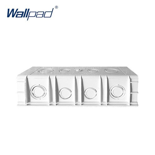 Mounting Box for 197*72mm Wall Switch and Socket Wallpad Cassette Universal White Wall Back Junction Box