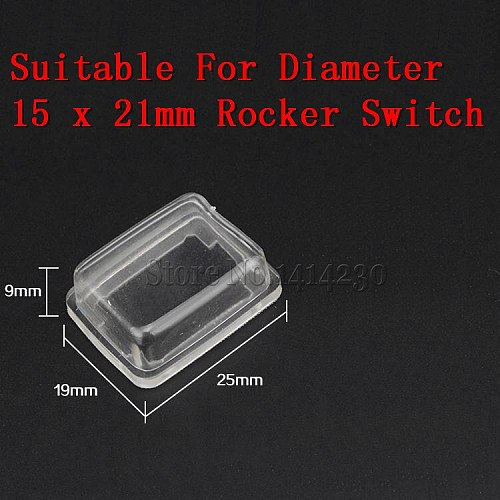 10Pcs KCD1 Transparent Waterproof Cap Waterproof Cover is Suitable For The Diameter 15 x 21mm Rocker Switch.