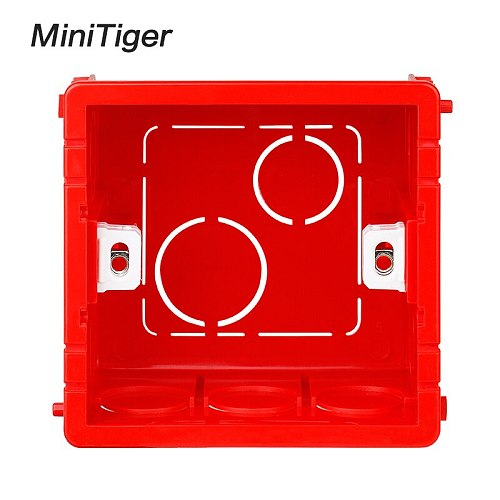 Minitiger Adjustable Mounting Box Internal Cassette 86mm*83mm*50mm For 86 Type Touch Switch and Socket Wiring Back Box