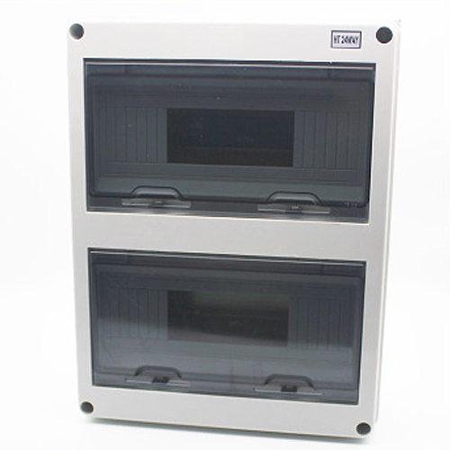 24 Way Plastic Electrical Distribution Box Waterproof MCB Box Enclosure Box Junction Box HT Series